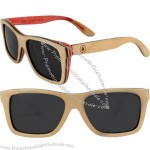 Woodzee Trinity Maple Skateboard Series Sunglasses - Natural/Pink