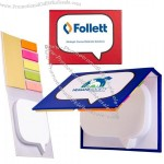 Word Bubble Customized Sticky Notes w/ Flags Set
