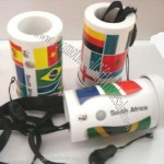 World Cup Football Fans Mini Horn with National Flag Print