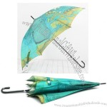 Would Map Poleaxe Automatic Umbrella
