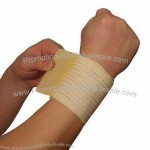 Wrist Bandage, Made of Polyester/Rubber