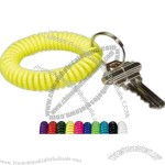 Wrist Coil Key Holder With Split Ring