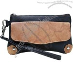 Wristlet pouch with top zipper and removable strap(1)