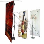 X Banner Stand with Disk Base