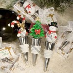 Xmas Holiday Themed Bottle Stopper Wedding Favors