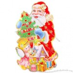 Xmas Santa Sided Sticker