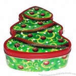 Xmas Tree Gift Tin Box