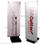 "Y Shape 24"" x 71"" Banner Stand w/ weighted base"