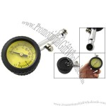 Yellow Analogue Dial Tyre Pressure Gauge for Auto Car