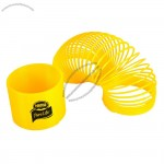 """Yellow Coil Puzzle Spring, Large 3 1/4"""" Diameter"""