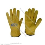 Yellow Cow Grain Leather Safety Gloves