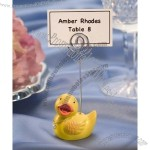 Yellow Duck Place Card Holder Favor
