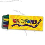 Yellow four pack of crayons.