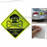 Yellow Green Black Reflective Doggy in Car Sticker Decal for Auto