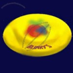 Yellow Light Up Frisbee W/Multi-colored LED Lights