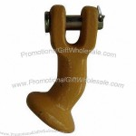 Yellow-painted Grade 80 Clevis Elephant Foot, Made of Forged Alloy Steel, MBS #48,000lbs