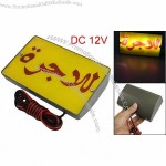 Yellow Plastic Cover Red LED Topper Sign Lamp Light for Taxi