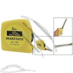 Yellow Plastic Housing Self Retracting Steel Tape Measure 5M