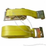 Yellow Ratchet Tie Down Strap With 3 Inches Width
