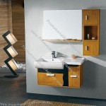 Yellow Solid Wood Modern Bathroom Cabinets