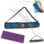 Yoga mat and carrying case, offers excellent traction.