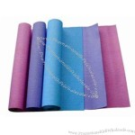 Yoga mat can be material of PVC, EVA or TPE and several colors available.