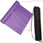 "Yoga mat with two elastic bands to keep mat closed, 24"" W x 66"" H."
