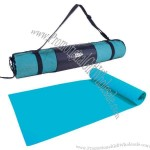 Yoga met with carrying case. Teal only.