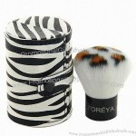 Zebra Stripe Best Synthetic Hair Kabuki Face Powder Brush with Barrel