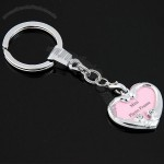 Zinc Alloy Keychains Heart-shaped Photo Frame