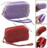Zipper Closure Mini Beaded Purse Bag for Lady