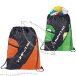 Zippered Mesh Drawstring Sportpack